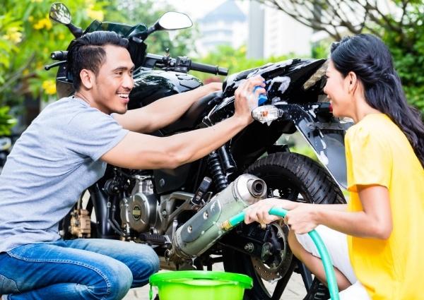 Lavage de la moto